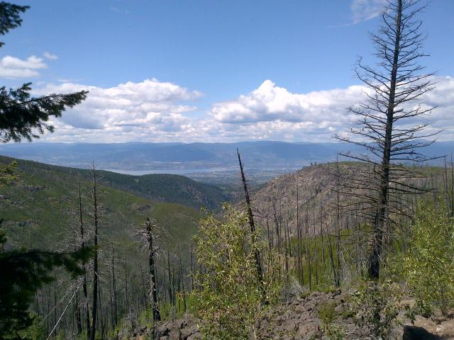 Looking down to Kelowna