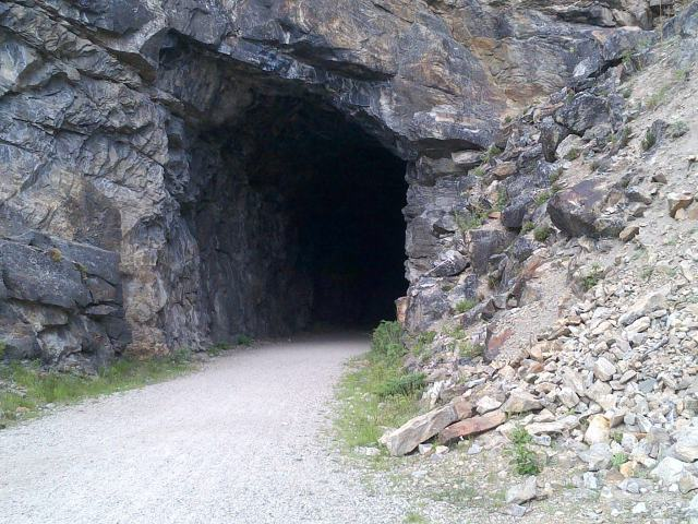 One of the tunnels